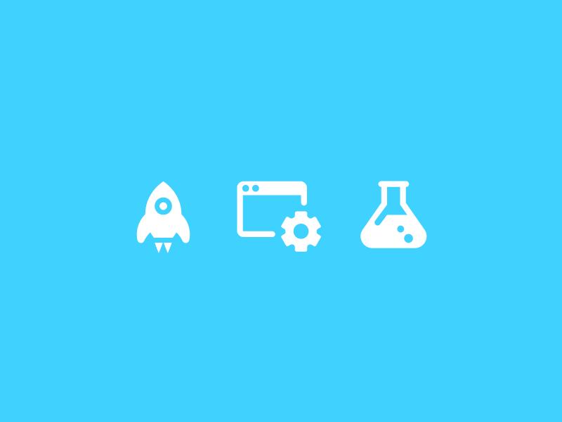 Iconography design icon iconography chemicals rocket