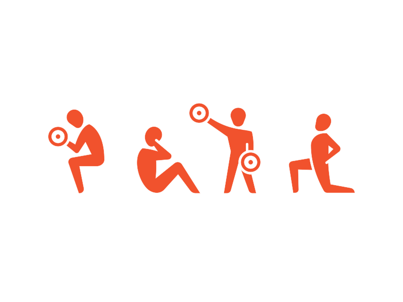 Fitness Icons sodafish workout exercise fitness pictogram icon design design vector illustration iconography icons