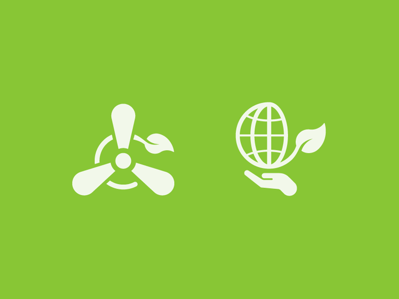 Eco Icons icondesign design sustainable energy globe environmental green eco icons sodafish