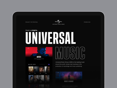 Universal Music - Case study design web design minimal user experience interaction interface web website dark ux music typography animation ui