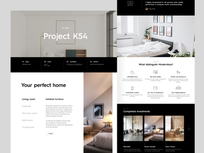 Modernbau #2 app interface interaction ux ui design dark website web typography