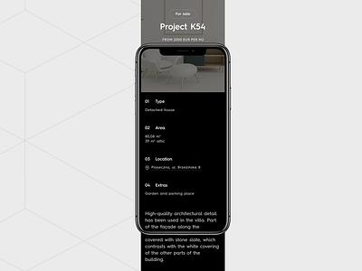 Modernbau #3 design interface dark interaction ux ui animation website web typography