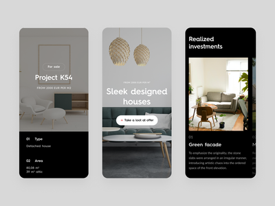Modernbau #4 minimal room architecture mobile ui mobile ux ui design dark website web typography