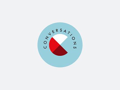 Conversations Logo typography logo branding