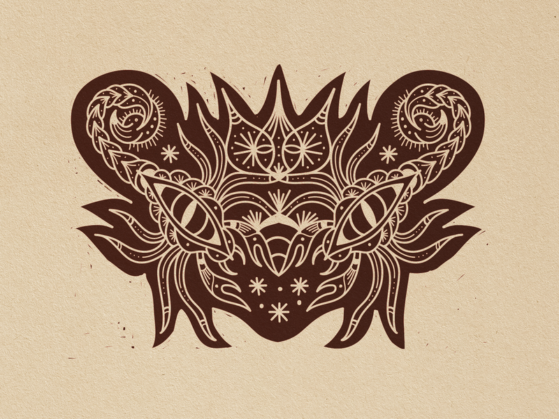 scorpiolhos - woodcut