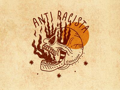 Anti-Racism livesmatter antiracism onfire fire skull handlettering illustration design