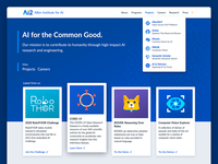 AI2 New Website web design research ui design icon logo illustration branding artificial intelligence website