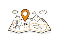 Adventure Map Illustration