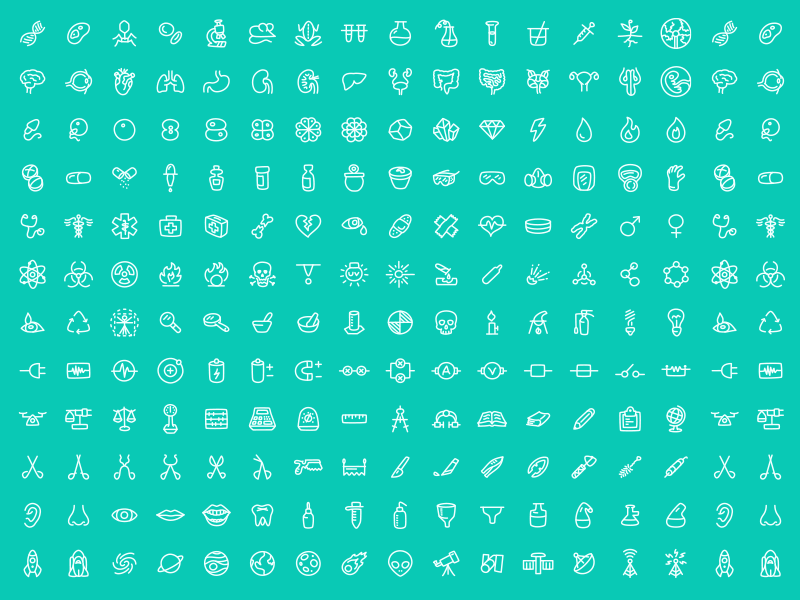 180 FREE Science Icons, Scientia free icon science vector illustration biology chemistry space freebie