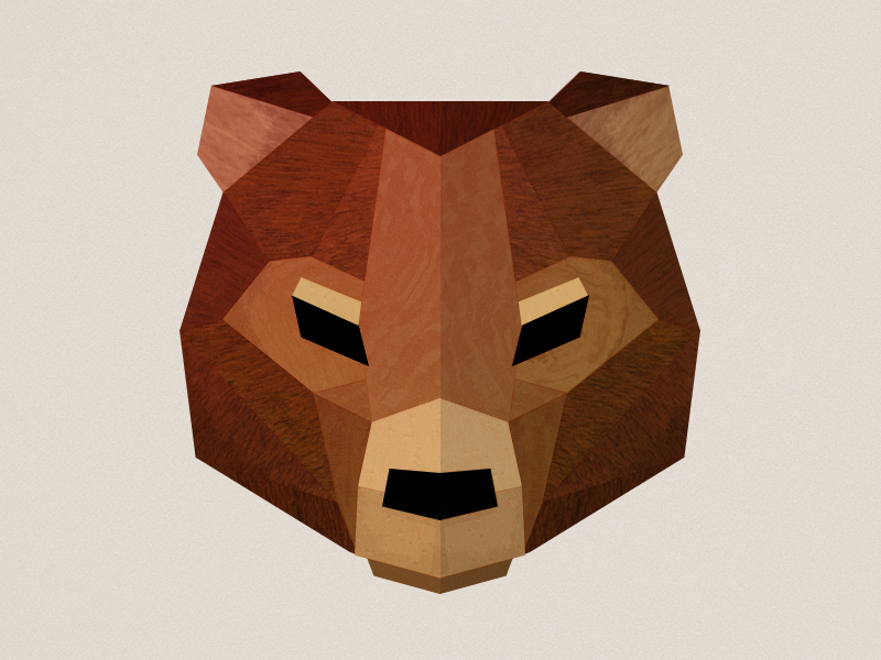 Bear Head illustration vector animal bear geometric polyginal