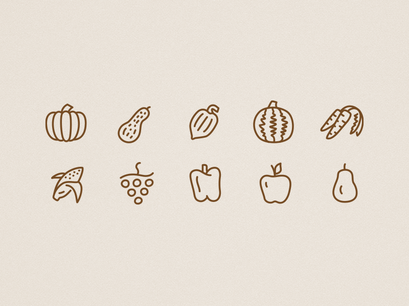 Icons autumn food