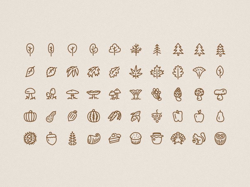 Icons autumn full
