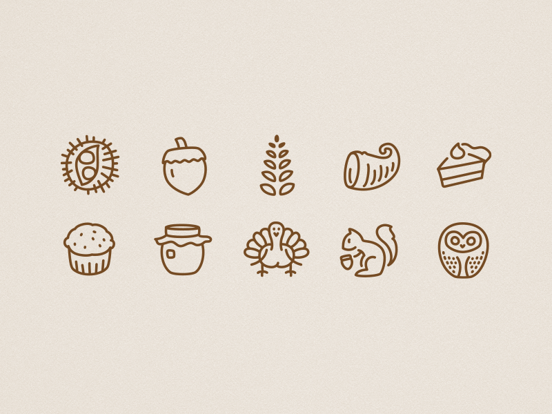 Icons autumn misc