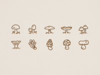 Icons autumn mushrooms