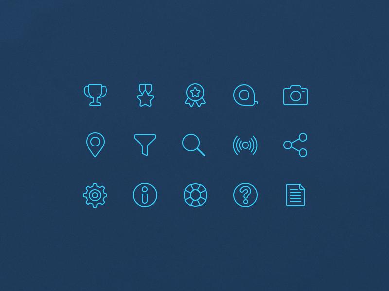 Shark tracker minimal icons