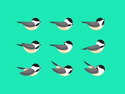 Geometric Chickadee Study illustration animal bird chickadee geometric