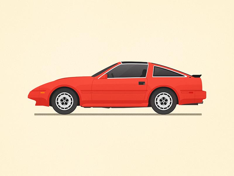 1986 Nissan 300zx Z31 vector illustration car