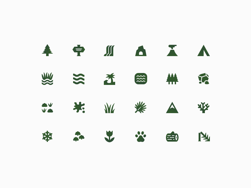 Elemental Icons elements outdoors iconography icons