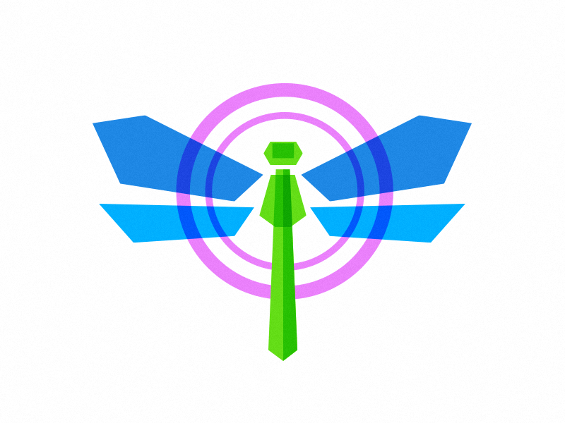 Unused Logo Concept tracking gps location insect dragonfly icon identity brand logo