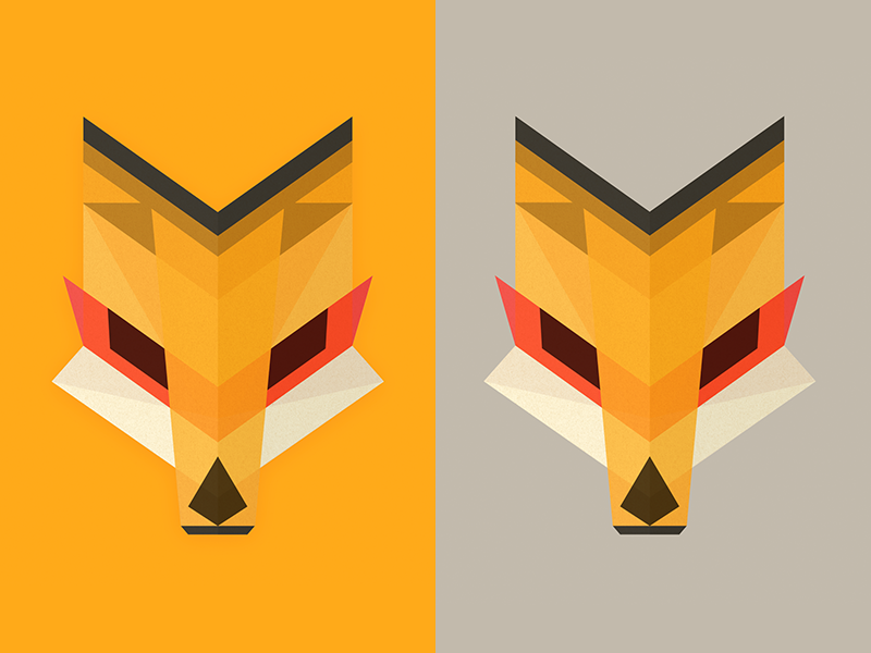 Foxhead Reduxe Dux wild kitsune fox geometric polygon vector illustration head animal