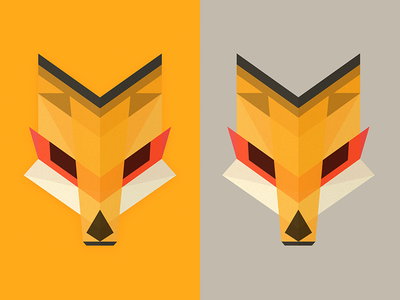 Foxhead Reduxe Dux wild kitsune fox geometric polygon vector illustration head animal