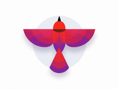 Bird bird geometric logo icon outdoors illustration