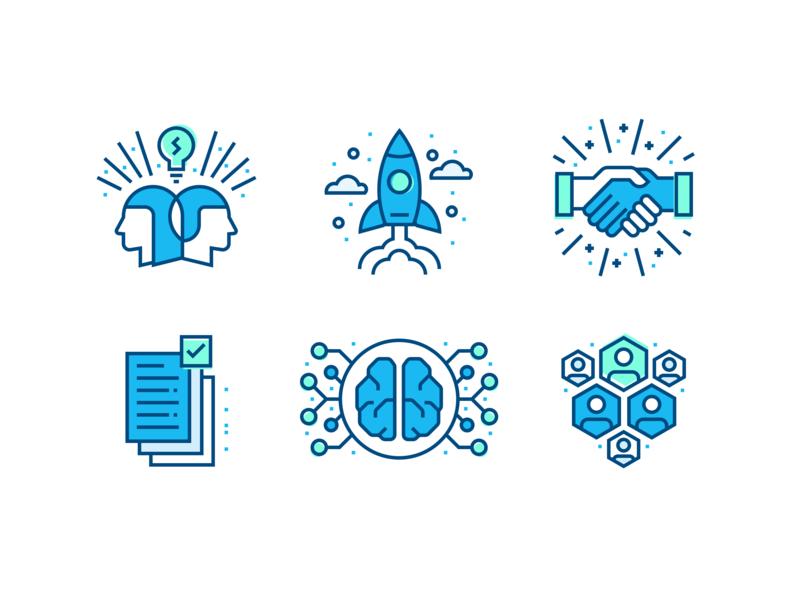 Incubation Illustrations launch found partnership brand icon illustration incubator artificial intelligence ai