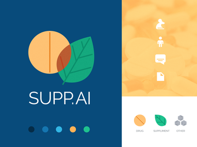 Supp.ai science icon logo identity artificial intelligence research drugs