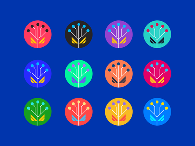 Growing the seed of AI concept color artificial intelligence growth seed ai logo icon illustration
