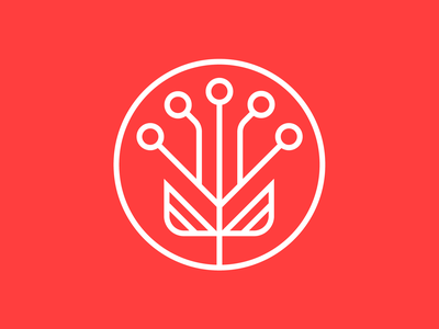 Seed of AI Outline outline tech seed artificial intelligence branding identity logo icon illustration