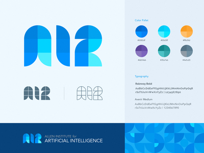 AI2 Logo Concept - Geometric Pattern acronym concept artificial intelligence geometric brand identity logo