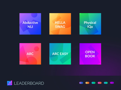 Basic Shapes Leaderboard Logos brand science generated animated artificial intelligence leaderboard identity vector logo icon illustration