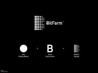 BitFarm / Branding / Logo Concept bitcoin currency crypto currency cryptocurrency crypto wallet graphic design logos brand identity branding brand icon logodesign logo design logo