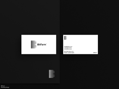 BitFarm / Branding / 0.1 design stationery bitcoin cryptocurrency crypto wallet logodesign logo design logo graphic design brand identity branding brand letterhead busniesscard