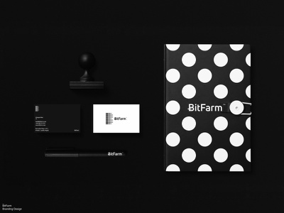 BitFarm / Branding / 0.3 stationery design logos logodesign logo design logo graphic design brand identity branding brand bitcoin currency crypto currency cryptocurrency crypto wallet