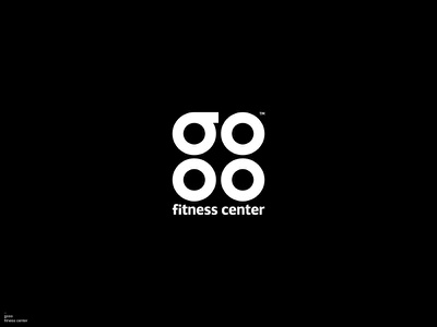 gooo fitness center / Logo Design design fitness club fitness center fitness logo health logotype logos logodesign logo design logo graphic design brand identity branding brand