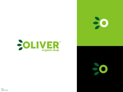 Oliver Organic Shop / Logo Design icon logodesign brand branding logo design branding typogaphy logotype logo design logos eco friendly food organic organic food fresh