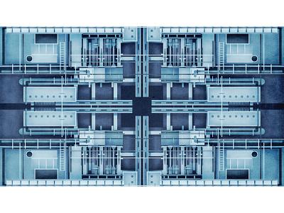 Engine pattern drawing digitalart illustration