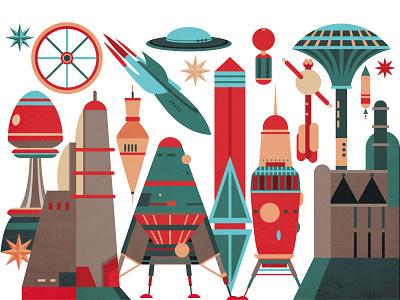 Spaceship sci-fi drawing digitalart illustration