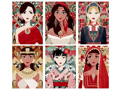 Multi-Cultural 2 culture drawing digitalart illustration