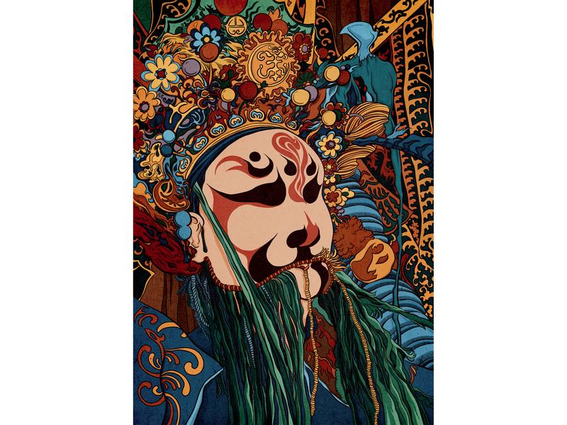 Chinese Opera opera chinese drawing digitalart illustration