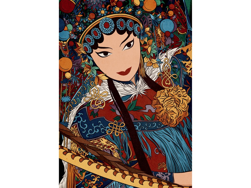 Chinese Opera opera chinese drawings digitalart illustration