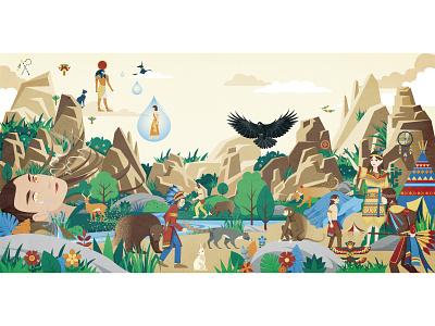 Hi, world-2 book children book story digitalart illustration