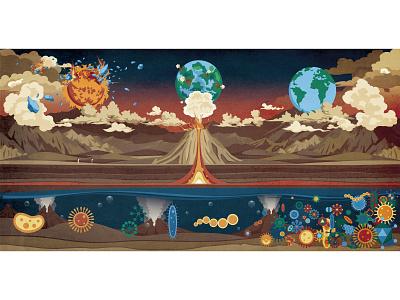 Hi,world-4 book children book story digitalart illustration