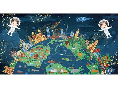 Hi, world-8 book children book story digitalart illustration