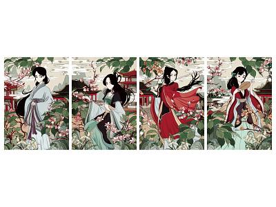 Clashing Colour-Characters chinese digitalart illustration