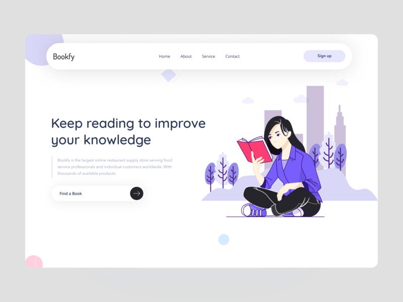 Book Reading Header Concept!