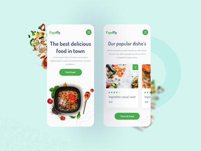 Foodfly - Responsive Concept! ui design ui  ux user interface food delivery service branding creative typography food delivery application food app food delivery responsive design app ui app design web design app website web