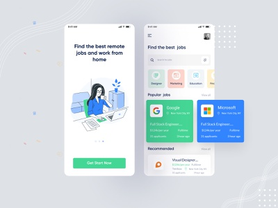 Jobify - Mobile App Concept! onboarding ui ui design ux  ui app screen typography creative branding illustration agency ui job finding job application job listing job board job