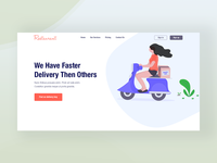 Food Delivery Header Concept